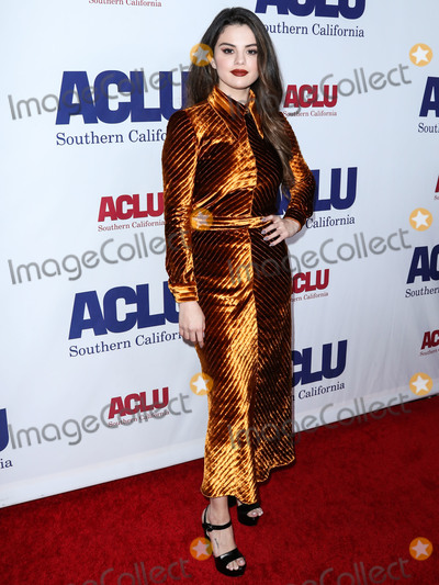 Selena Gomez Photo - BEVERLY HILLS LOS ANGELES CALIFORNIA USA - NOVEMBER 17 Singer Selena Gomez wearing Prada arrives at ACLU SoCals Annual Bill Of Rights Dinner 2019 held at the Beverly Wilshire Four Seasons Hotel on November 17 2019 in Beverly Hills Los Angeles California United States (Photo by Xavier CollinImage Press Agency)