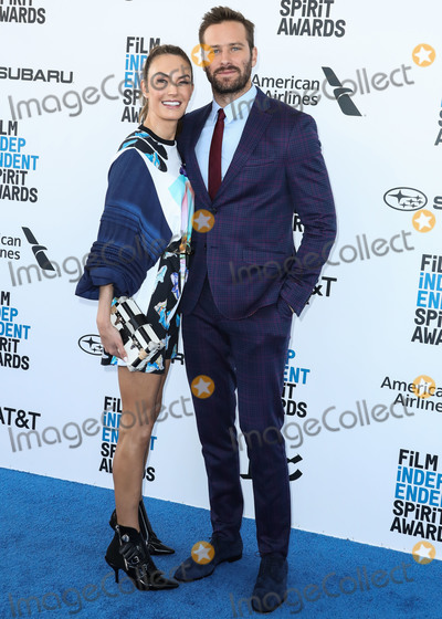 Armie Hammer Photo - SANTA MONICA LOS ANGELES CA USA - FEBRUARY 23 Actress Elizabeth Chambers and husbandactor Armie Hammer arrive at the 2019 Film Independent Spirit Awards held at the Santa Monica Beach on February 23 2019 in Santa Monica Los Angeles California United States (Photo by Xavier CollinImage Press Agency)