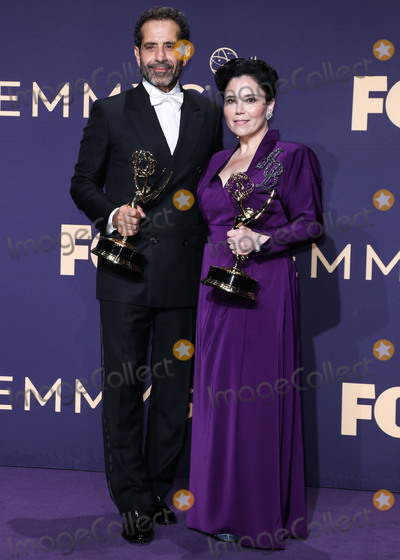 Alex Borstein Photo - LOS ANGELES CALIFORNIA USA - SEPTEMBER 22 Tony Shalhoub and Alex Borstein pose in the press room at the 71st Annual Primetime Emmy Awards held at Microsoft Theater LA Live on September 22 2019 in Los Angeles California United States (Photo by Xavier CollinImage Press Agency)