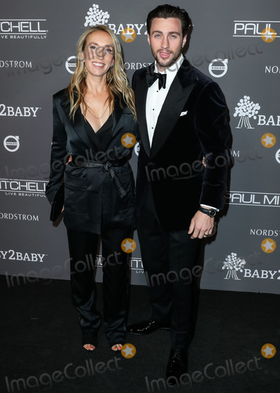 Aaron Taylor-Johnson Photo - CULVER CITY LOS ANGELES CA USA - NOVEMBER 10 Sam Taylor-Johnson Aaron Taylor-Johnson at the 2018 Baby2Baby Gala held at 3Labs on November 10 2018 in Culver City Los Angeles California United States (Photo by Xavier CollinImage Press Agency)