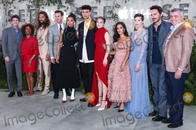 Archie Madekwe Photo - WESTWOOD LOS ANGELES CALIFORNIA USA - OCTOBER 21 Alfre Woodard Jason Momoa Nesta Cooper Archie Madekwe Hera Hilmar Yadira Guevara-Prip Sylvia Hoeks and Christian Camargo arrive at the World Premiere Of Apple TVs See held at the Fox Village Theater on October 21 2019 in Westwood Los Angeles California United States (Photo by Xavier CollinImage Press Agency)