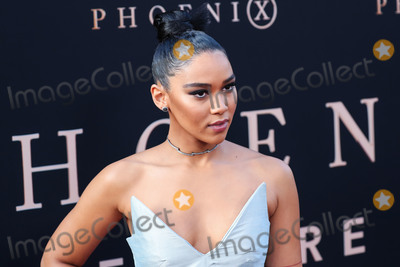 Alexandra Shipp Photo - HOLLYWOOD LOS ANGELES CALIFORNIA USA - JUNE 04 Actress Alexandra Shipp wearing a Christopher John Rogers dress Christian Louboutin shoes Rona Pfeiffer jewelry Le Vian stud earrings and Harry Kotlar stud earrings arrives at the Los Angeles Premiere Of 20th Century Foxs Dark Phoenix held at the TCL Chinese Theatre IMAX on June 4 2019 in Hollywood Los Angeles California United States (Photo by Xavier CollinImage Press Agency)