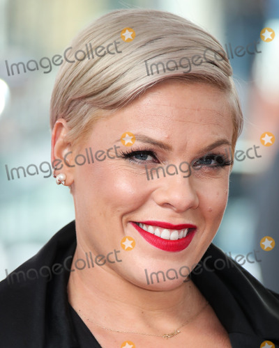 Alecia Moore Photo - HOLLYWOOD LOS ANGELES CA USA - FEBRUARY 05 Singer Pnk (Pink Alecia Moore) attends a ceremony honoring her With Star On The Hollywood Walk Of Fame - Dedication of the 2656th star on the Walk of Fame in the category of Recording on February 5 2019 in Hollywood Los Angeles California United States (Photo by Xavier CollinImage Press Agency)