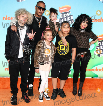 Tameka Cottle Photo - LOS ANGELES CA USA - MARCH 23 TI Clifford Joseph Harris Jr Tiny Harris Tameka Cottle Major Philant Harris Leyah Amore Harris Heiress Diana Harris and T I III arrive at Nickelodeons 2019 Kids Choice Awards held at the USC Galen Center on March 23 2019 in Los Angeles California United States (Photo by Xavier CollinImage Press Agency)
