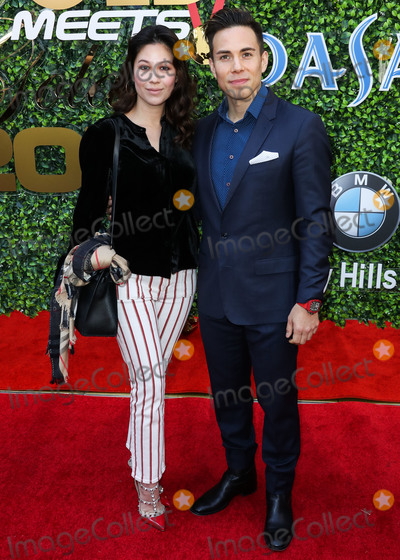 Apolo Ohno Photo - BEVERLY HILLS LOS ANGELES CALIFORNIA USA - JANUARY 04 Bianca Stam and Apolo Ohno arrive at the 7th Annual Gold Meets Golden Event held at Virginia Robinson Gardens and Estate on January 4 2020 in Beverly Hills Los Angeles California United States (Photo by Xavier CollinImage Press Agency)