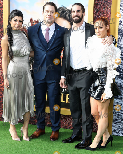 Shay Photo - WESTWOOD LOS ANGELES CALIFORNIA USA - JANUARY 11 Shay Shariatzadeh John Cena Seth Rollins and Becky Lynch arrive at the Los Angeles Premiere Of Universal Pictures Dolittle held at the Regency Village Theatre on January 11 2020 in Westwood Los Angeles California United States (Photo by Xavier CollinImage Press Agency)