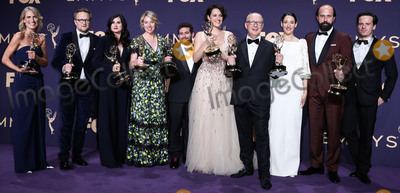 Andrew Scott Photo - LOS ANGELES CALIFORNIA USA - SEPTEMBER 22 Phoebe Waller-Bridge Andrew Scott and Sian Clifford pose in the press room at the 71st Annual Primetime Emmy Awards held at Microsoft Theater LA Live on September 22 2019 in Los Angeles California United States (Photo by Xavier CollinImage Press Agency)