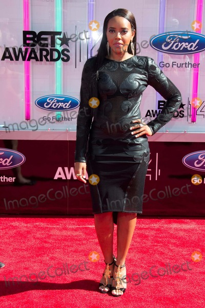 Angela Simmons Photo - Angela Simmons attends Bet Awards on June 29th 2014 at Nokia Theatre LA Livelos Angeles californiausaphototleopoldGlobephotos