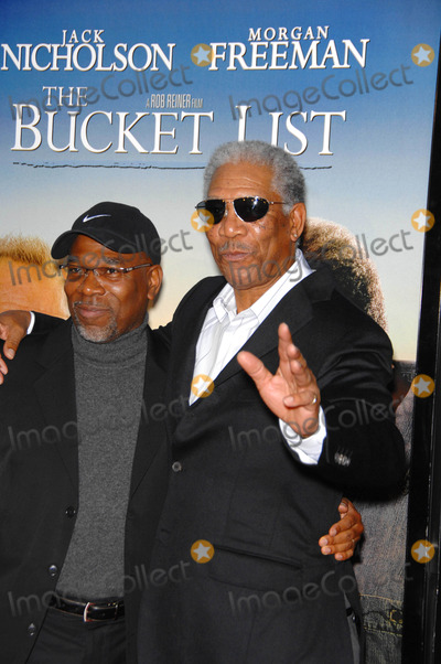 Alfonso Freeman Photo - the Bucket List Held at the Cinerama Dome on 12-16-2007 in Los Angeles  California Photo by Michael Germana-Globe Photosinc Alfonso Freeman and Morgan Freeman