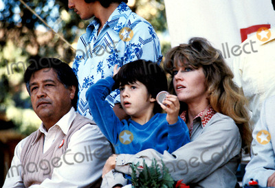 Cesar Chavez Photo - Cesar Chavez and Jane Fonda and Son Troy Photo ByGlobe Photos