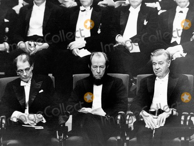 Alexander Solzhenitsyn Photo - Alexander Solzhenitsyn with Harry Martinsson and Gunnar Myrdahl at the Nobel Price 1974 Photo by Pt-Globe Photos Inc