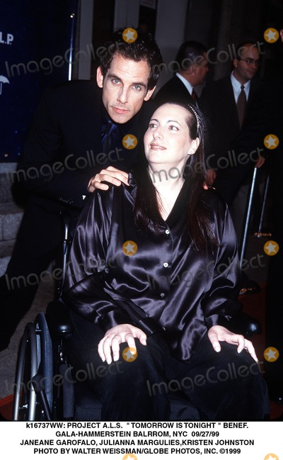Jennifer Estess Photo -  Project Als  Tomorrow Is Tonight  Benef Gala-hammerstein Balrrom NYC 092799 Ben Stiller W Jennifer Estess Photo by Walter WeissmanGlobe Photos Inc