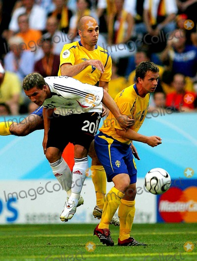 Tobias Linderoth Photo - World Cup Soccer Sweden Vs Germany World Cup Stadium Munich Germany 06-24-2006 Photo Stewart Kendall  Allstar  Globe Photos Inc 2006 Lukas Podolski Teddy Lucic  Tobias Linderoth