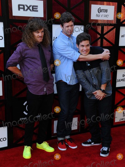 Adam DeVine Photo - Blake Anderson Anders Holm Adam Devine attending the Comedy Central Roast of James Franco Held at the Culver City Studios in Culver City California on August 25 2013 Photo by D Long- Globe Photos Inc