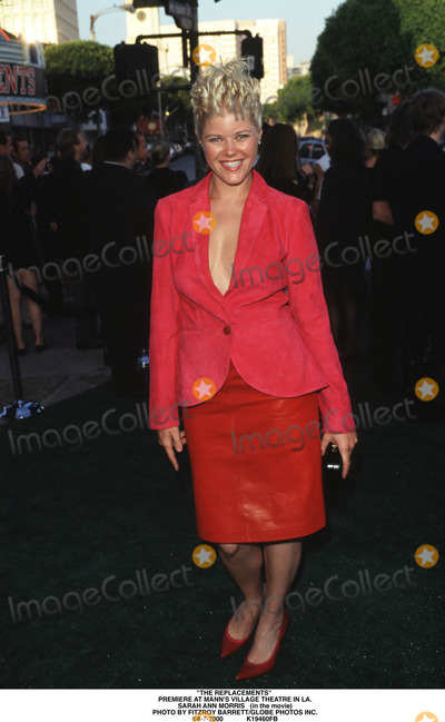 Sarah Ann Morris Photo - The Replacements Premiere at Manns Village Theatre in LA Sarah Ann Morris (in the Movie) Photo by Fitzroy BarrettGlobe Photos Inc 8-7-2000