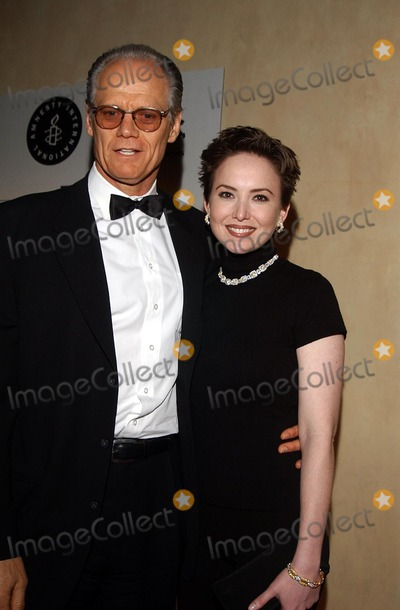Fred Dryer Photo -  Children Uniting Nations and Amnesty International Oscar Night Celebration at Ago LA CA 03242002 Photo by Amy GravesGlobe Photosinc2002 (D) Fred Dryer and Wife