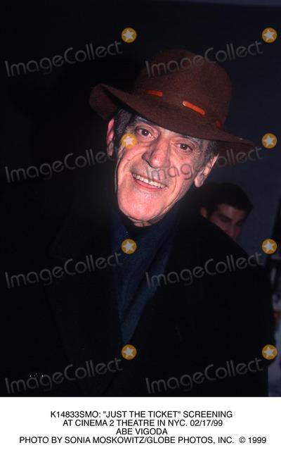 Abe Vigoda Photo -  Just the Ticket Screening at Cinema 2 Theatre in NYC 021799 Abe Vigoda Photo by Sonia MoskowitzGlobe Photos Inc