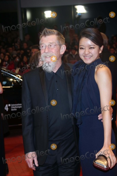 Anwen Rees-Myer Photo - Actor John Hurt and Anwen Rees-myers attends the World Premiere of the Grand Budapest Hotel During the 64th International Berlin Film Festival Aka Berlinale at Berlinale Palast in Berlin Germany on 06 February 2014 Photo Alec Michael
