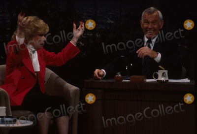 Johnny Carson Photo - Johnny Carson with Joan Rivers at the Tonight Show Photo by Allan S Adler-ipol-Globe Photos Inc