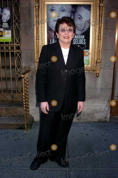 Billy Jean King Photo - Opening Night Performance For Angela Lansbury and Marian Seldes in Deuce Music Box Theatre New York NY 05-06-2007 Photo by John Krondes-Globe Photos Inc 2007  Billy Jean King