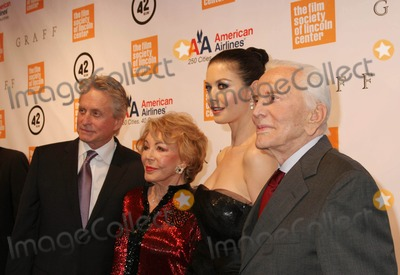 Anne Buydens-Douglas Photo - the Film Society of Lincoln Center 2010 Chaplin Awards Gala Honors Michael Douglas at Alice Tully Hall New York City 05-25-2010 Photo by Paul Schmulbach-Globe Photos Inc Michael Douglas and Catherine Zeta Jones Kirk Douglas and Anne Buydens Douglas