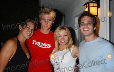 Heidi Blair Photo - Summer Pool Party at Private Residence Los Angeles CA 07102004 Photo by Miranda ShenGlobe Photos Inc 2004 Heidi Blair Thad Luckinbill Renee Sloan and Greg Rikaart