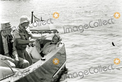 Doug Mckeon Photo - Henry Fonda Doug Mckeon and Katharine Hepburn in on Golden Pond 1981 Supplied by Globe Photos Inc