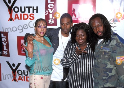 Lamya Photo - 702 New York Youthaids Launches Global Callto Actionto Stop the Spread of Hivaids Among Youth Photo by Rick MacklerrangefinderGlobe Photos Inc K36597rm 2002 Lamya Mario Angie Stone an Wyclef Jean