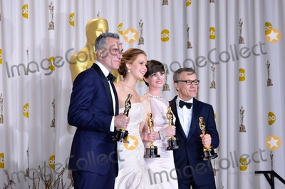 Daniel Day-Lewis Photo - Daniel Day-lewis Jennifer Lawrence Anne Hathaway Christoph Waltz Best Actors 85th Academy Awards  Oscars Dolby Theatre Hollywood CA February 24 2013 Roger Harvey Photo by Roger Harvey- Globe Photos Inc
