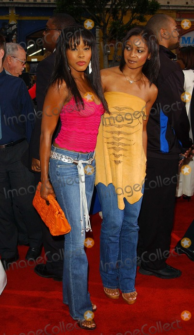 Elise Neal Photo - - Charlies Angels - Full Throttle - Movie Premiere - Graumans Chinese Theatre Hollywood CA - 06182003 - Photo by Fitzroy Barrett  Globe Photos Inc 2003 - Golden Brooks and Elise Neal