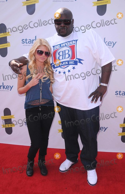 Big Black Photo - Annual Rob Dyrdek Foundation Benefit at Rob Dyrdeks Fantasy Factory in Los Angeles CA 101511 Photo by Scott Kirkland-Globe Photos   2011 Chelsea Chanel Dudley and Christopher Big Black Boykin