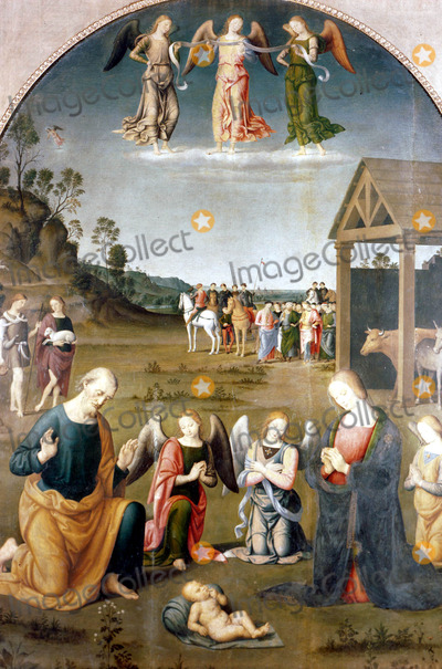 Adored Photo - The Adoration of the Magi by Giovanni Di Pietro Photo by Globe Photos