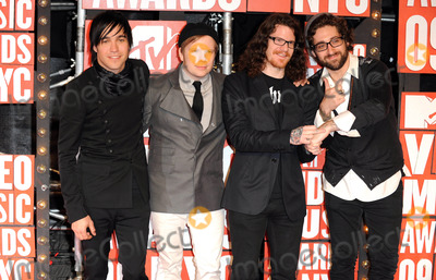Andrew Hurley Photo - Fall Out Boy Mtv Video Music Awards 2009 - Arrivals at Radio City Music Hall New York City USA 09-13-2009 Photo by Mark Chilton-richfoto-Globe Photos Inc K63401rich Peter Wentz with Patrick Stump  Andrew Hurley and Joseph Trohman
