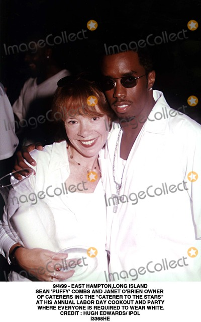 Hugh Edwards Photo - 499 - East Hamptonlong Island Sean Puffy Combs and Janet Obrien Owner of Caterers Inc the Caterer to the Stars at His Annual Labor Day Cookout and Party Where Everyone Is Required to Wear White Credit  Hugh Edwards IpolGlobe Photos Inc