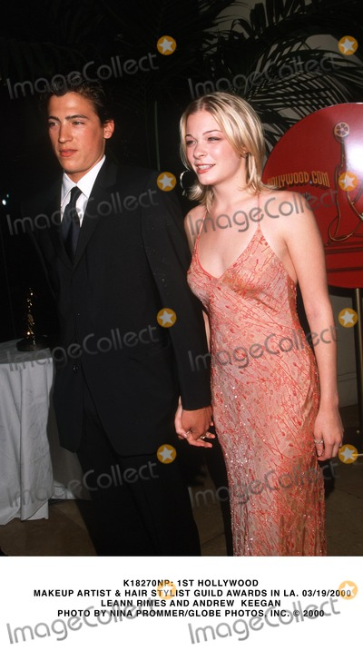 Andrew Keegan Photo -  1st Hollywood Makeup Artist  Hair Stylist Guild Awards in LA 03192000 Leann Rimes and Andrew Keegan Photo by Nina PrommerGlobe Photos Inc
