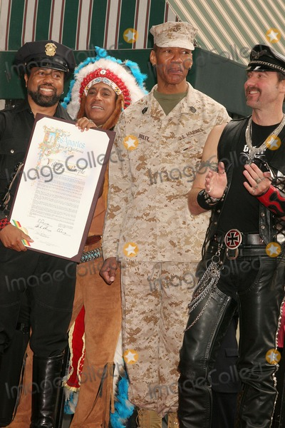 Village People Photo - the Village People Honored with a Star on the Hollywood Walk of Fame Hollywood Blvd Hollywood CA 091208 the Village People - L-r-ray Simpson Alexander Briley and Eric Anzalone Photo Clinton H Wallace-photomundo-Globe Photos Inc