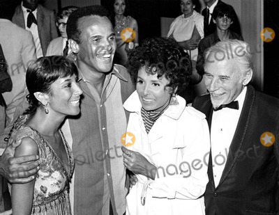 Lena Horne Photo - Harry Belafonte with Wife Julie and Lena Horne Supplied by Globe Photos Inc
