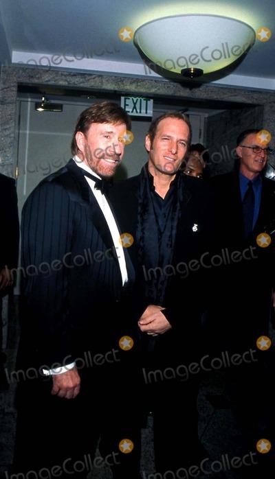 Chuck Norris Photo - Salute to Chuck Norris Fairmont Hotel Santa Monica California Chuck Norris and Michael Bolton Photo Amy Graves  Globe Photos Inc 2001 Chucknorrisretro