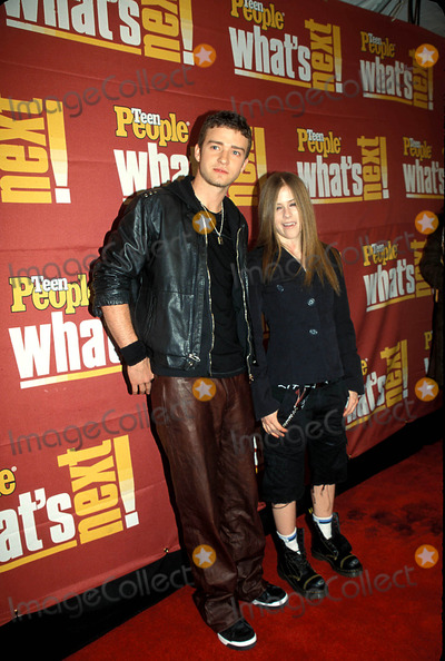 Avril Lavigne Photo - 4th Annual Teen People Whats Next Issue Party and Concert at Hammerstein Ballroom 11052002 Justin Timberlake and Avril Lavigne Photo by Barry TalesnickipolGlobe Photos