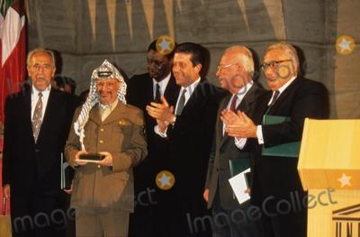 Yitzhak Rabin Photo - Yasser Arafat Shimon Peres  Yitzhak Rabin and a Lunesco L8971 Photo by Imapress-Globe Photos Inc