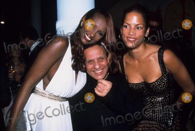 Azzedine Alaia Photo - Veronica Webb with Azzedine Alaia and Iman Alaia Opening Celebration at Guggenheim Soho New York 2000 K19933smo Photo by Sonia Moskowitz-Globe Photos Inc