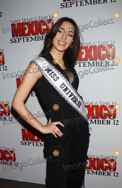 Amelia Vega Photo - 703 Loews Lincoln Square NYC Once Upon a Time in Mexico Premiere Photo by Ken BabolcsayipolGlobe Photos Inc I7942kba Amelia Vega (Miss Universe)
