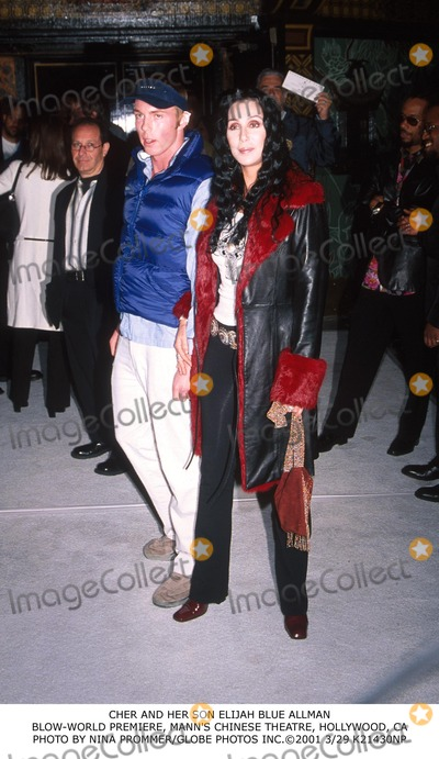 Elijah Blue Allman Photo - Cher and Her Son Elijah Blue Allman Blow-world Premiere Manns Chinese Theatre Hollywood CA Photo by Nina PrommerGlobe Photos Inc2001 329