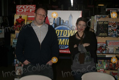 Amber Benson Photo - A duel meet and greet at MIDTOWN COMICS by actress author AMBER BENSON to promote her book CATS CLAW and author performer anton strout to promote his bookDEAD MATTER NYC 02-26-2010 Photos by  Rick Mackler Rangefinder-Globe Photos Inc2010ANTRON STROUT and AMBER BENSON K63715RM