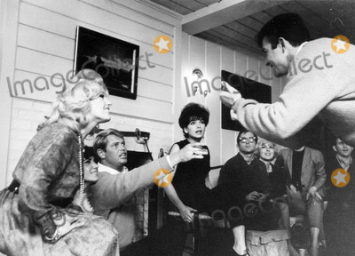 Troy Donahue Photo - Suzanne Pleshette and Troy Donahue Playing Charades at Home Photo by Don Ornitz-Globe Photos