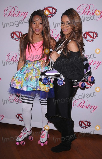 Vanessa Simmons Photo - Launch Party of Pastry Lite Shoe Collection at the Moonlight Rollerway in Glendale CA 12911 Photo by Scott Kirkland-Globe Photos   2011 Angela Simmons and Vanessa Simmons