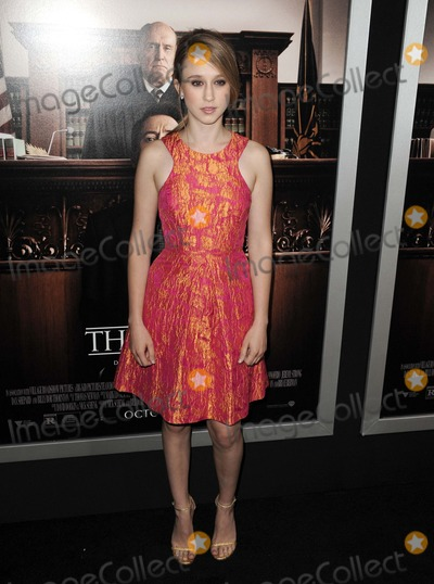 Taissa Farmiga Photo - Taissa Farmiga attending the Los Angeles Premiere of  the Judge Held at the Academy of Motion Picture Arts and Science in Beverly Hills California on October 1 2014 Photo by D Long- Globe Photos Inc