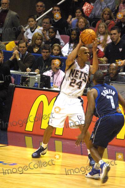 Richard Jefferson Photo -  New Jersey Nets Vs Dallas Mavericks at the Continental Arena in New Jersey 11162002 Photo by John BarrettGlobe Photos Inc 2002 Richard Jefferson (24)