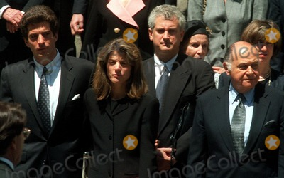 Jackie Onassis Photo - Jackie Onassis Death Family Leaving Church John F Kennedy Photo by John Barrett  Globe Photos Inc