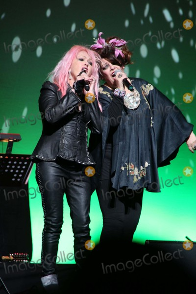 Angela McCluskey Photo - Cyndi Lauper and Angela Mccluskey Perform at Cyndi Laupers True Colors Fund Hosts the 5th Annual Home For the Holidays Concert the Beacon Theater NYC December 5 2015 Photos by Sonia Moskowitz Globe Photos Inc